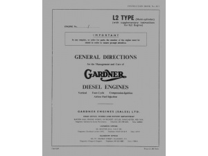 1 to 6L2 General Directions Manual