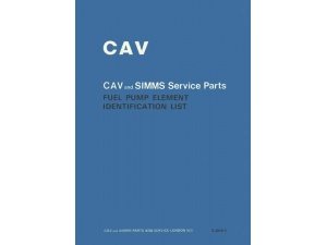 cav and simms element identification list