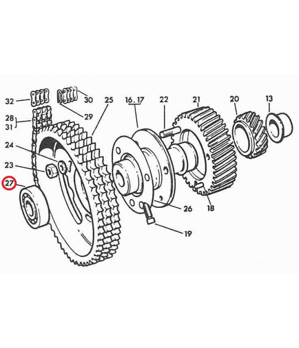 LW, LS Camshaft End Ball Journal Bearing